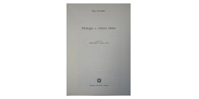 Filologia e cultura latina