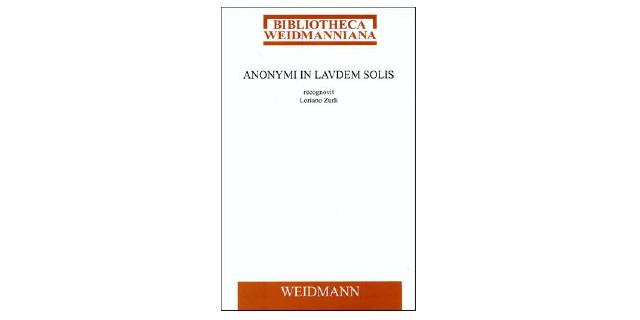Anonymi In laudem Solis